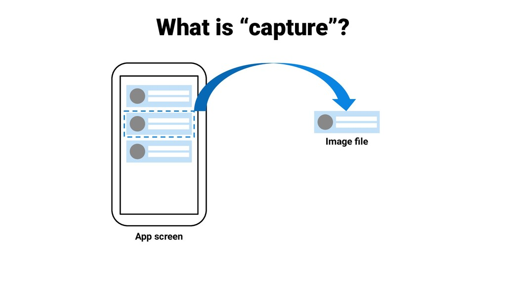 """What is """"capture""""? App screen Image file"""