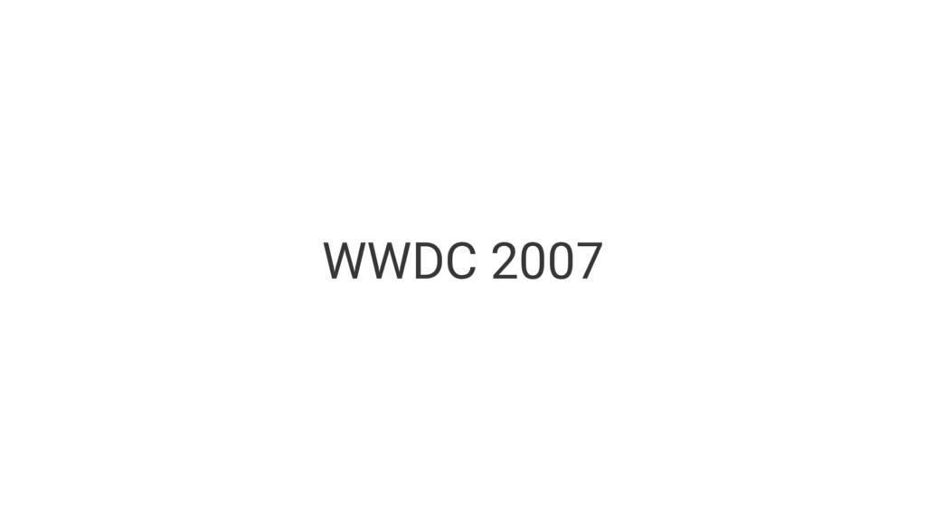 WWDC 2007
