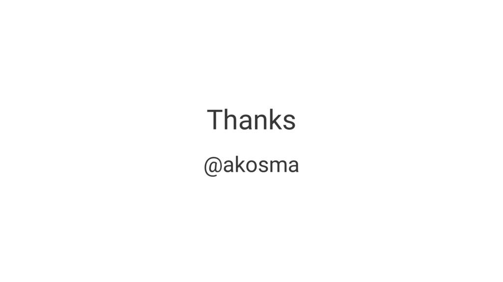 Thanks @akosma