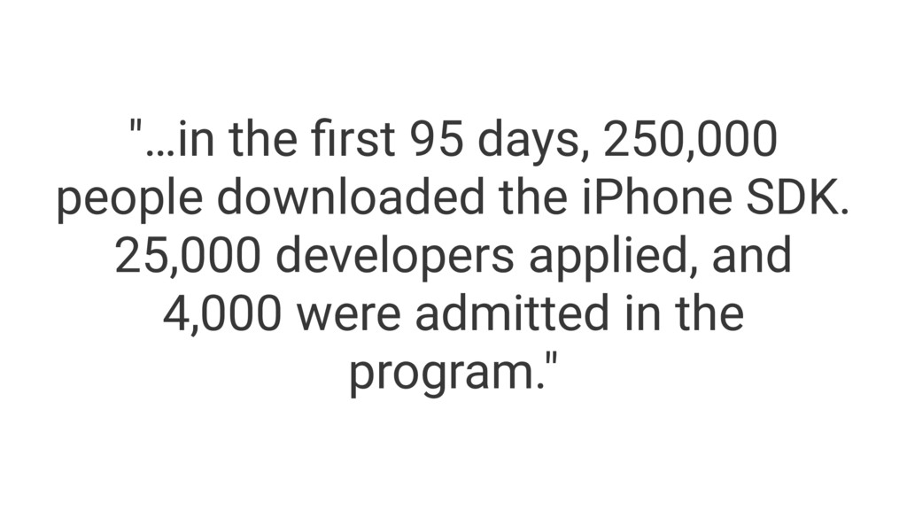 """""""…in the first 95 days, 250,000 people downloade..."""
