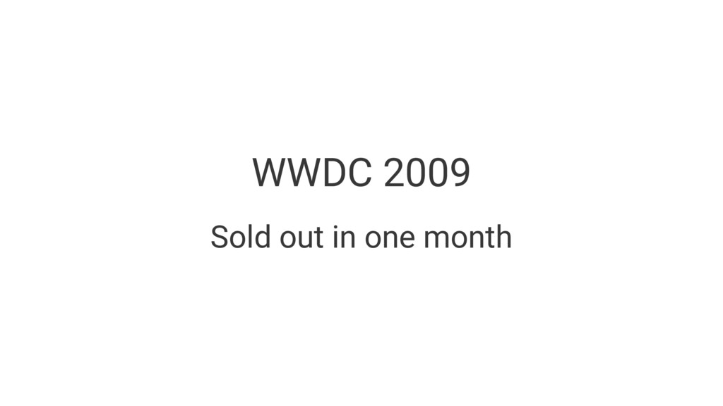 WWDC 2009 Sold out in one month