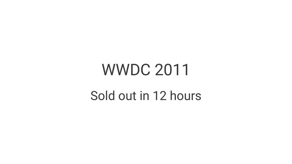 WWDC 2011 Sold out in 12 hours