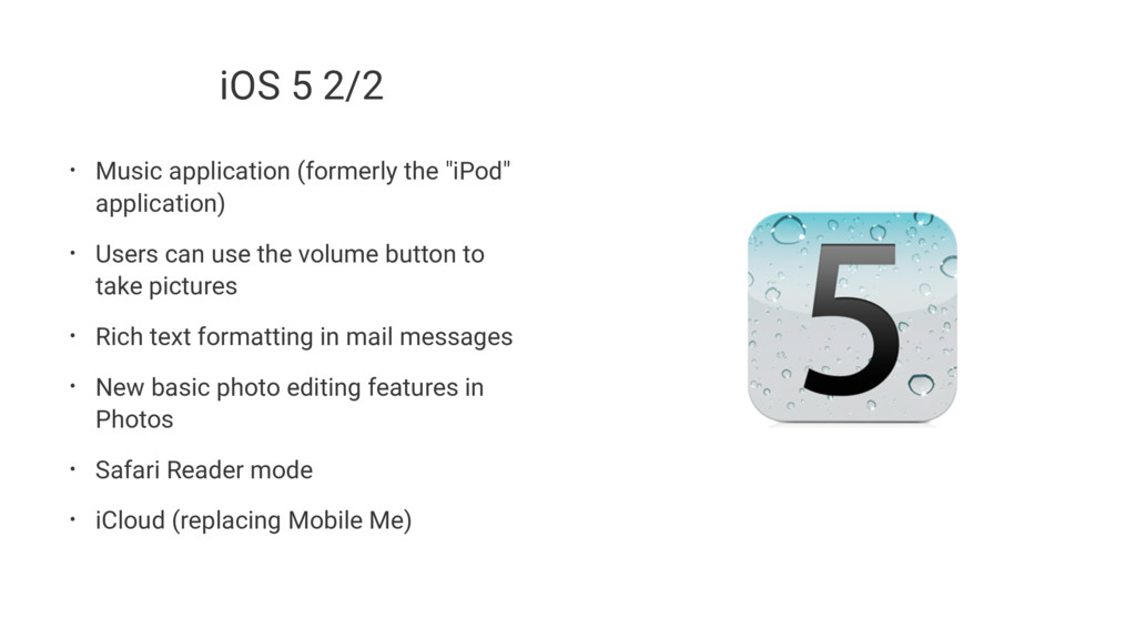 """iOS 5 2/2 • Music application (formerly the """"iP..."""