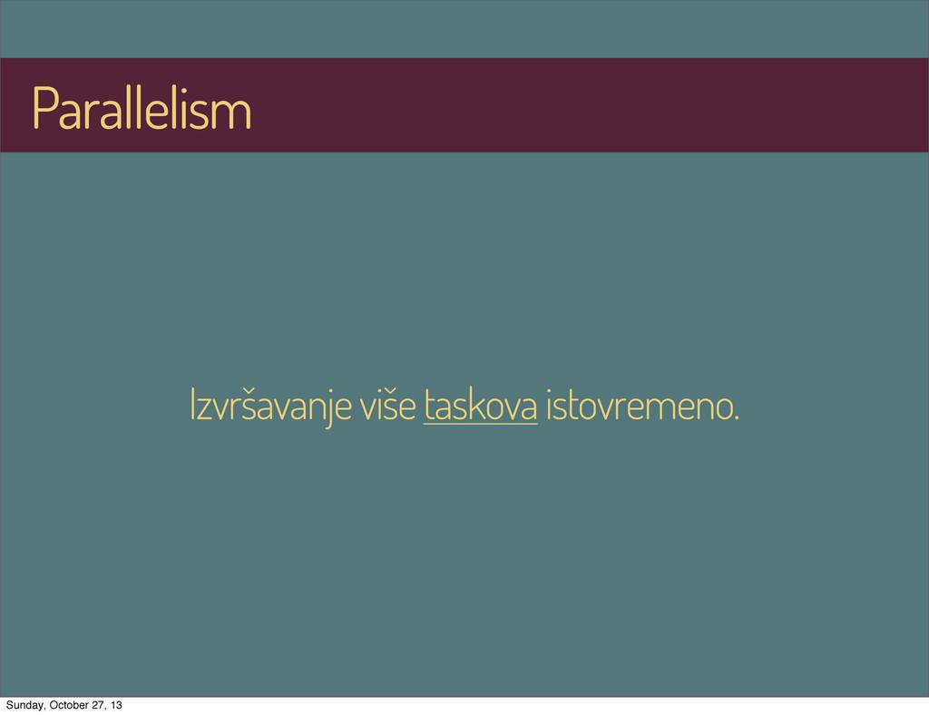 Parallelism Izvršavanje više taskova istovremen...