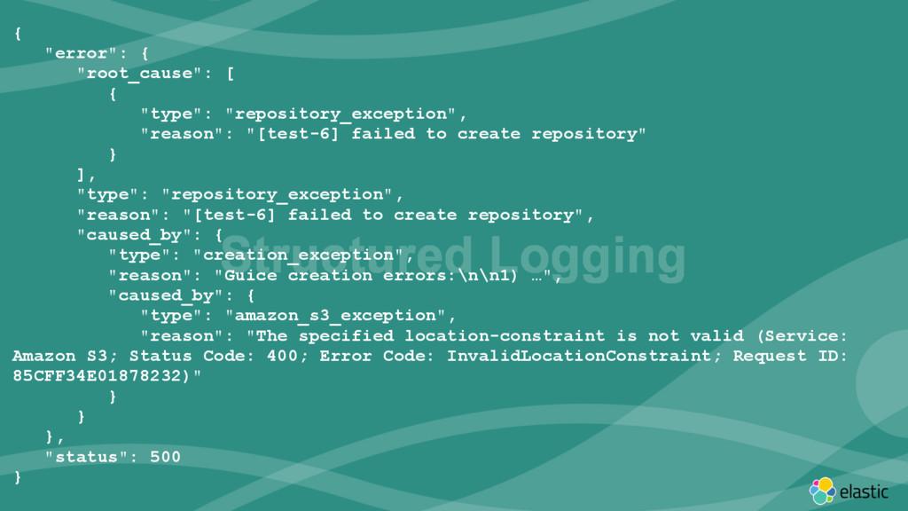"‹#› { ""error"": { ""root_cause"": [ { ""type"": ""rep..."