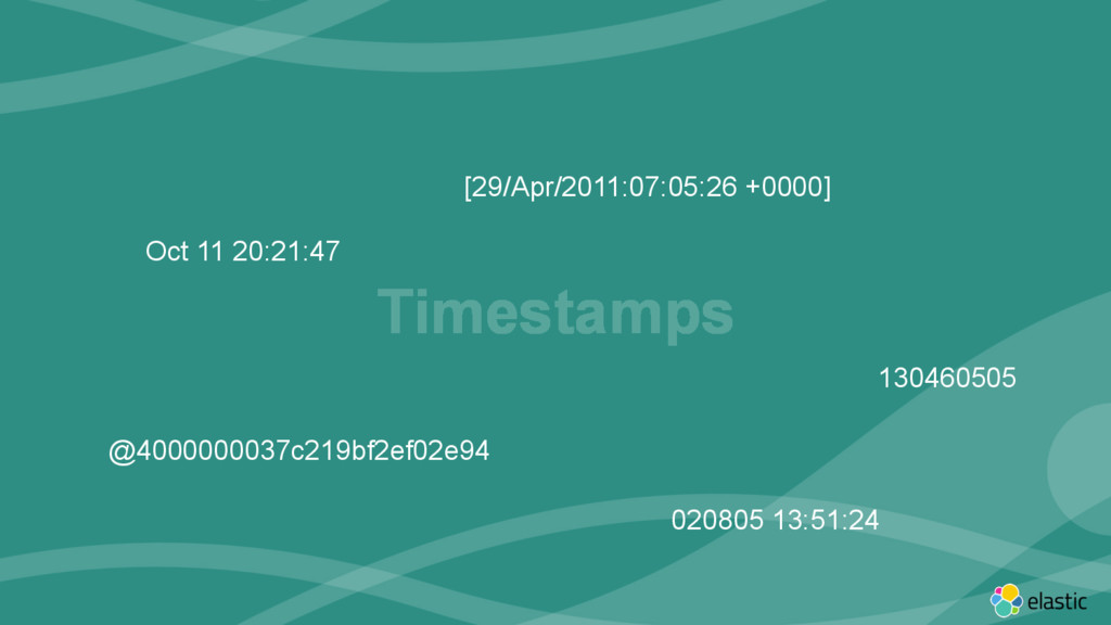 ‹#› Timestamps [29/Apr/2011:07:05:26 +0000] Oct...