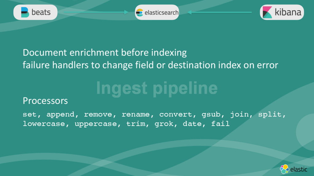 ‹#› Ingest pipeline Document enrichment before ...