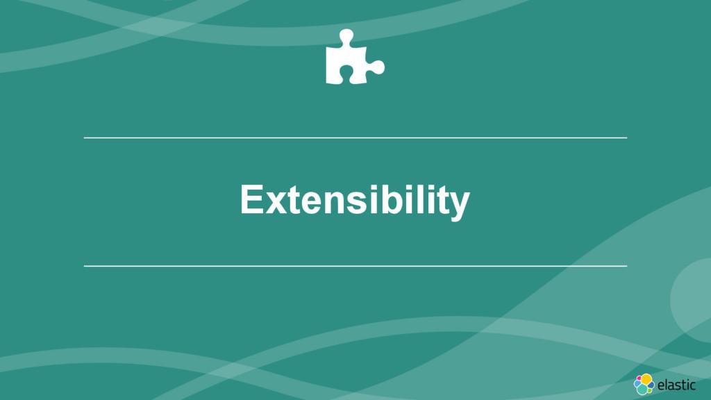 ‹#› Extensibility (