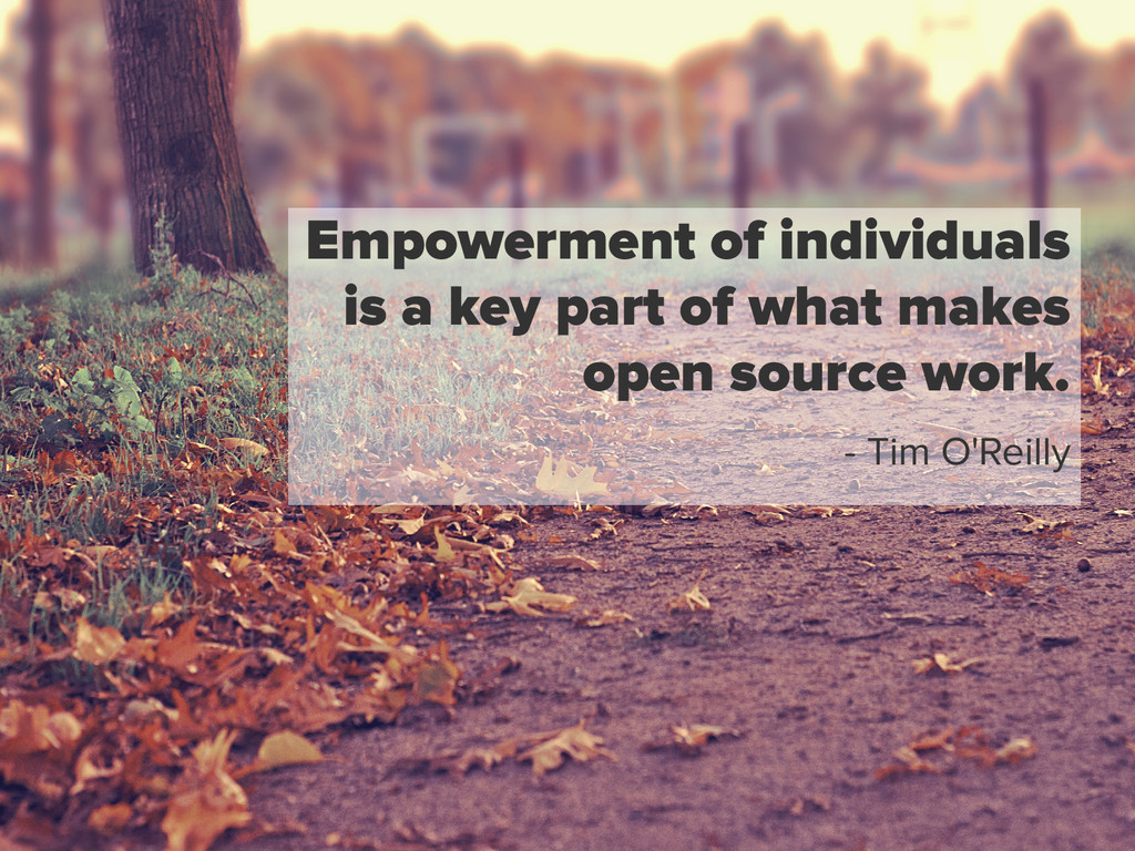 Empowerment of individuals is a key part of wha...