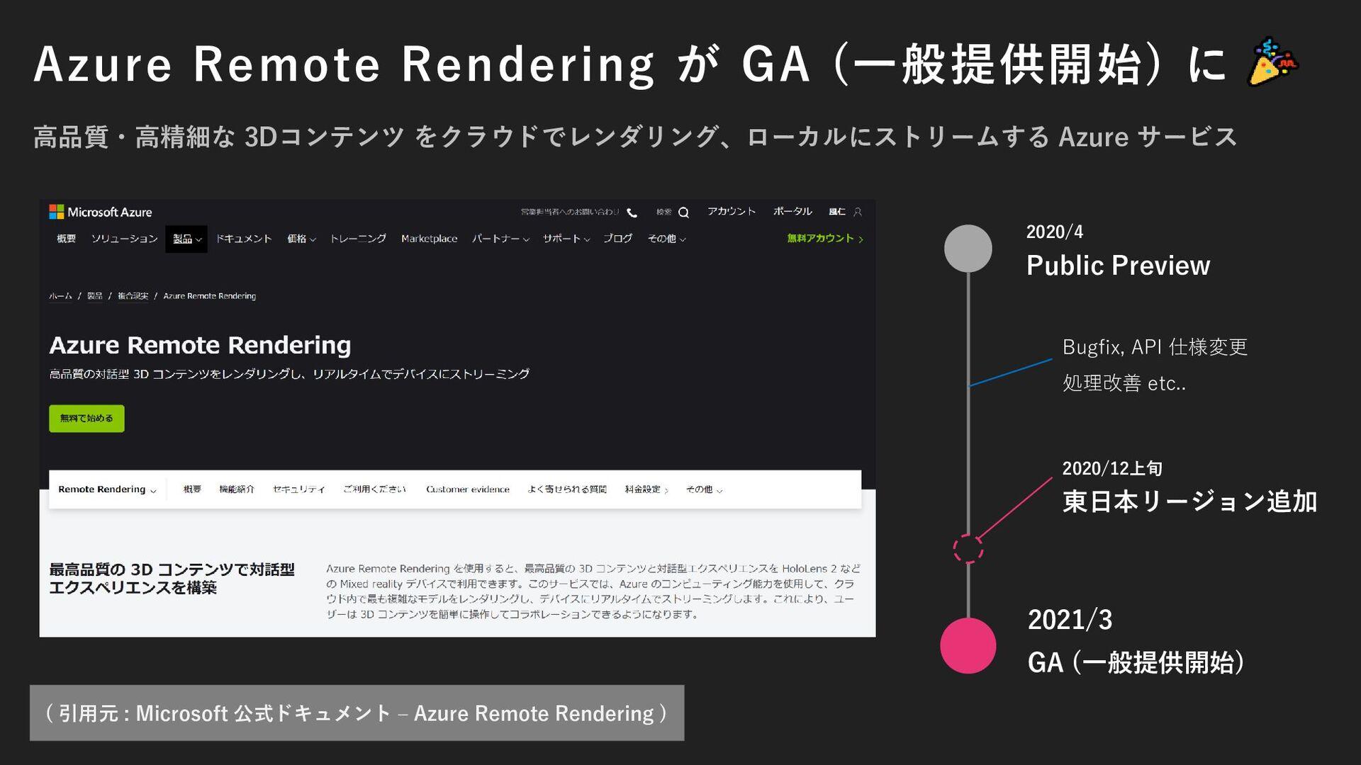 Azure Remote Rendering が GA (一般提供開始) に 高品質・高精細な...