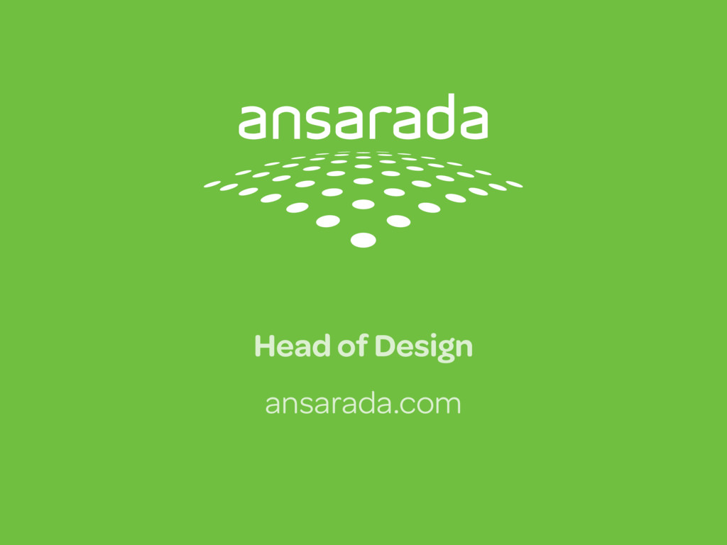 Head of Design ansarada.com