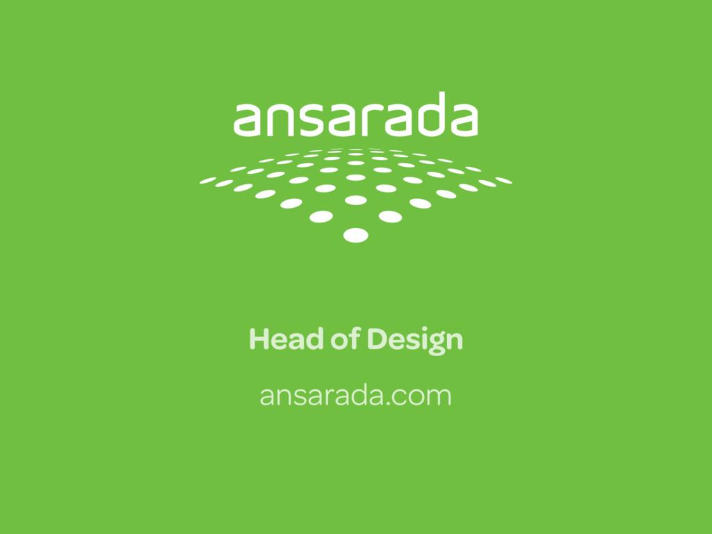 Head of Design ansarada.com
