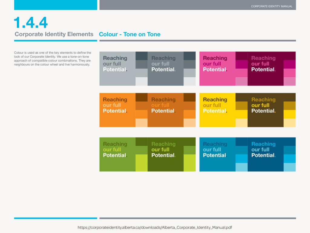 CORPORATE IDENTITY MANUAL THE GOVERNMENT OF ALB...