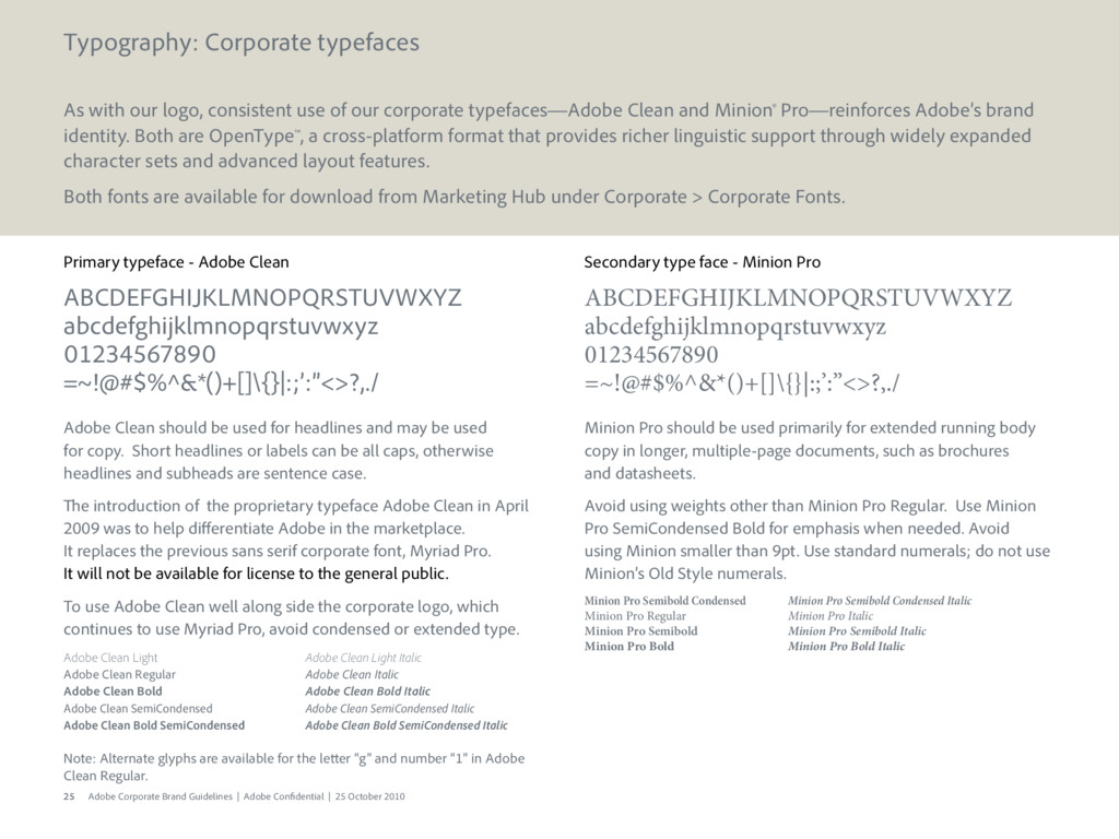 25 Adobe Corporate Brand Guidelines | Adobe Con...