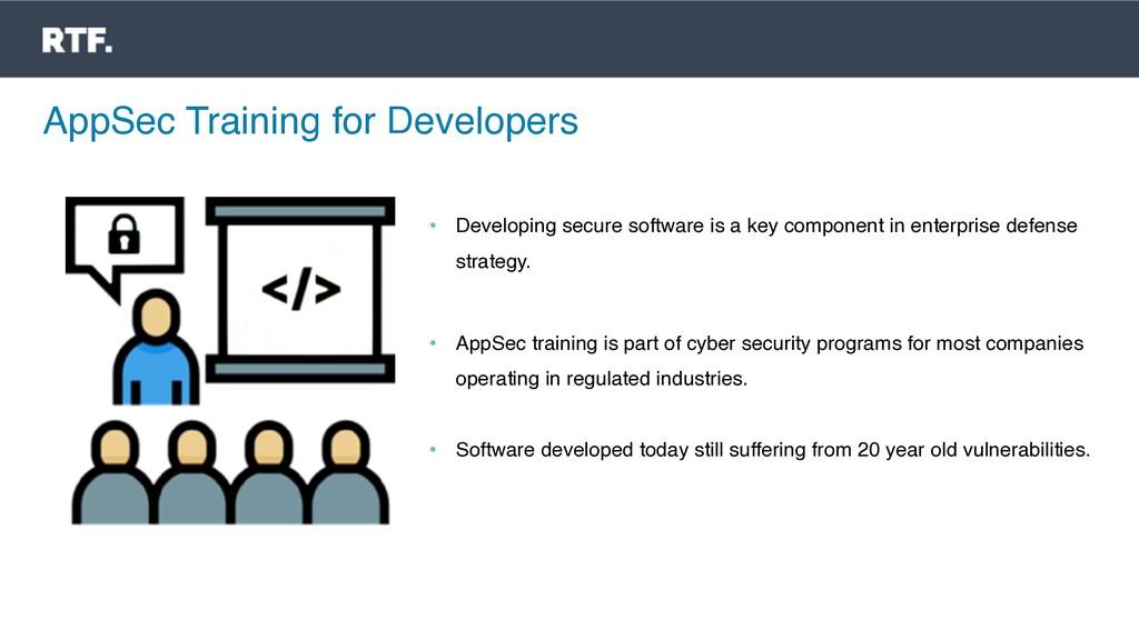 AppSec Training for Developers • Developing sec...
