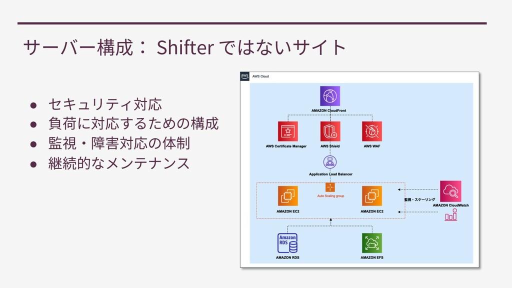 Shifter ● ● ● ●