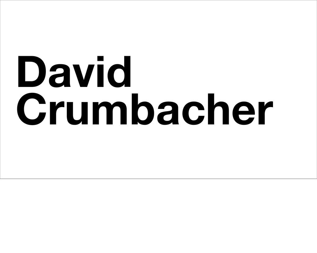David Crumbacher