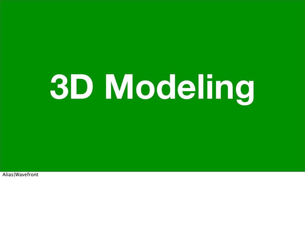 3D Modeling Alias|Wavefront