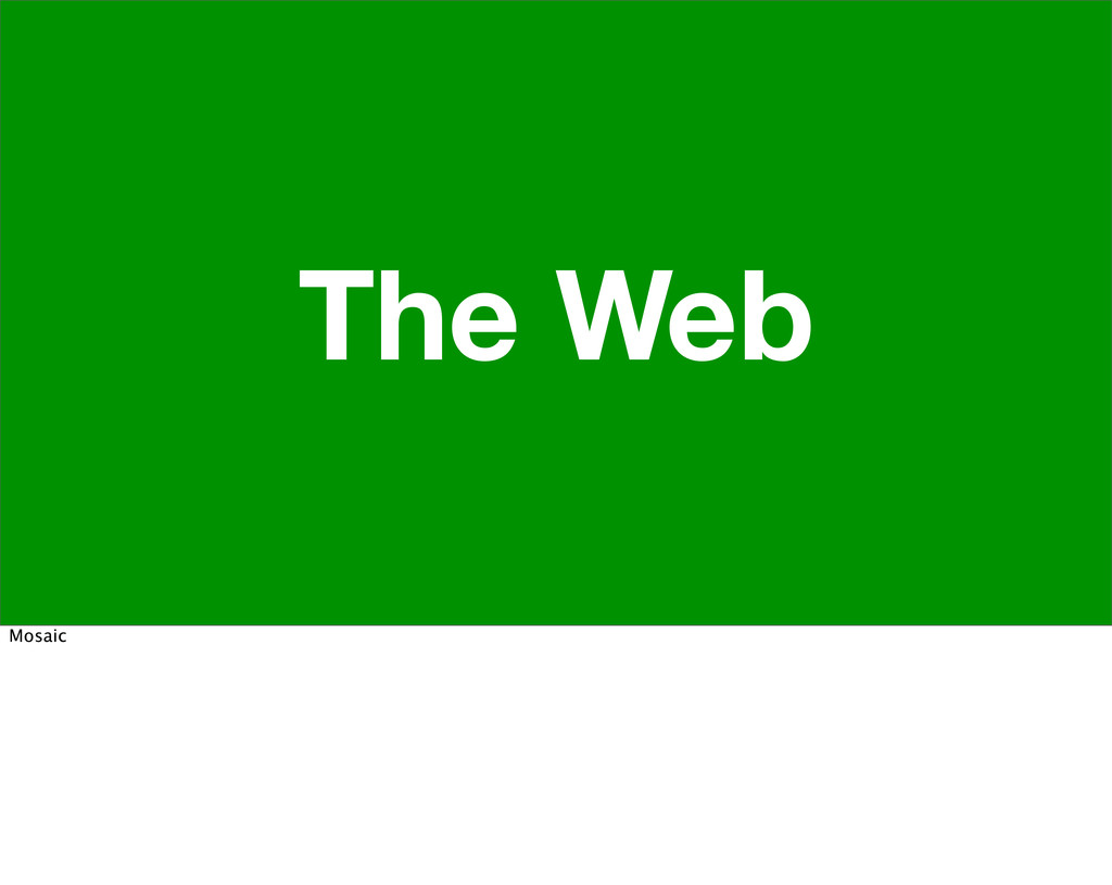 The Web Mosaic