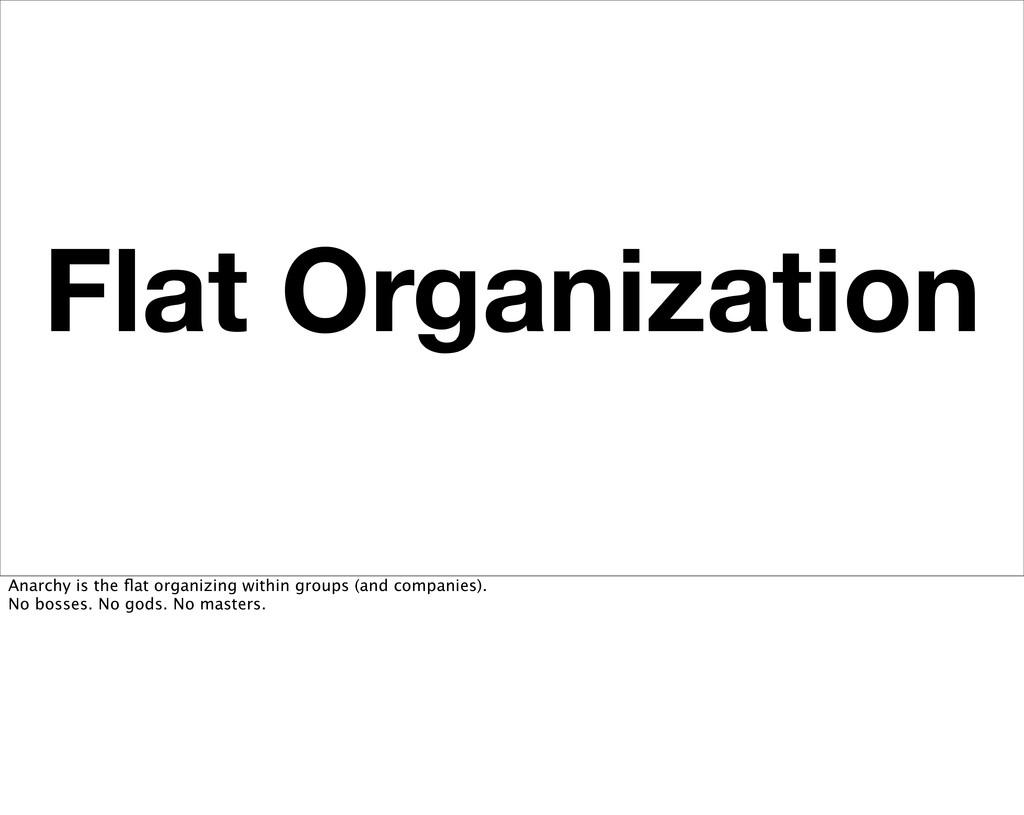 Flat Organization Anarchy is the flat organizing...