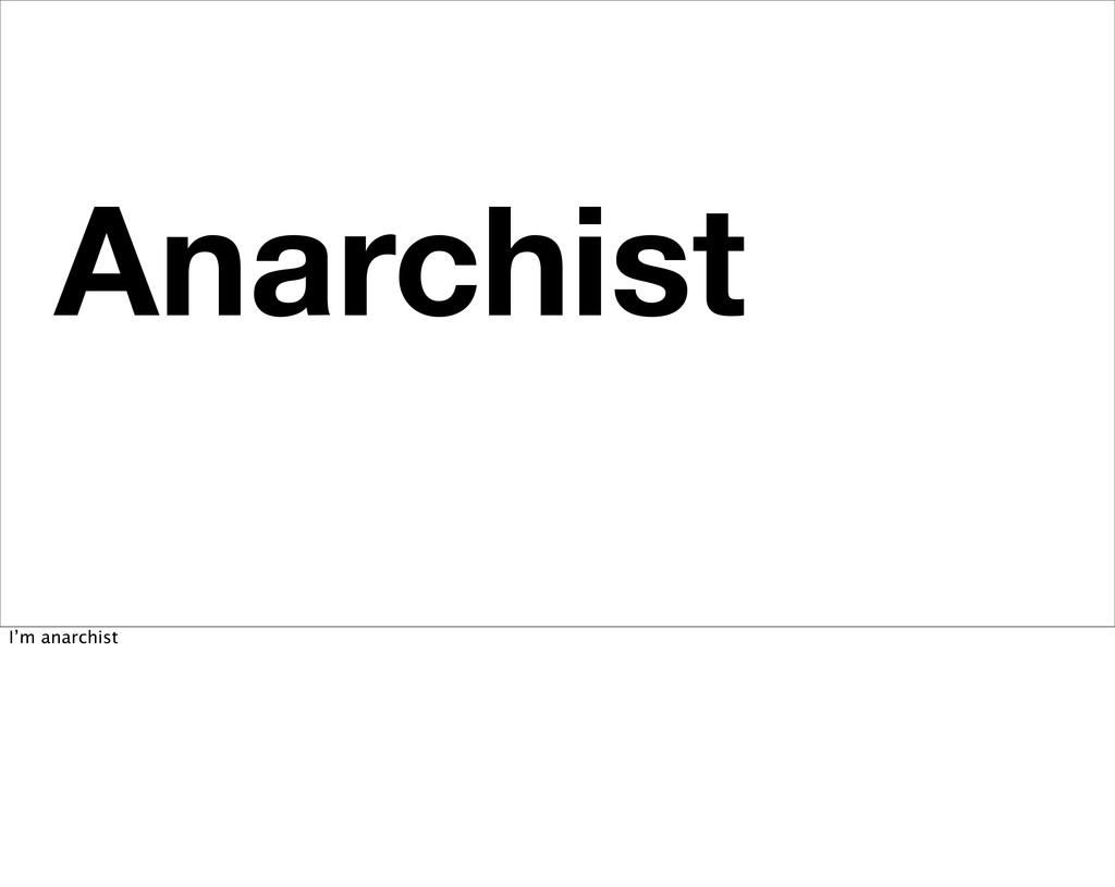 Anarchist No Fucking Masters I'm anarchist