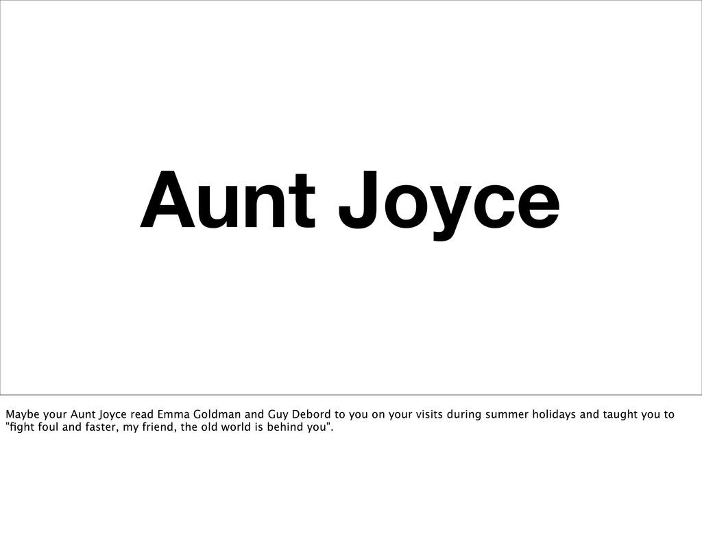 Aunt Joyce Maybe your Aunt Joyce read Emma Gold...