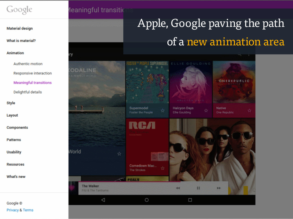 Apple, Google paving the path of a new animatio...
