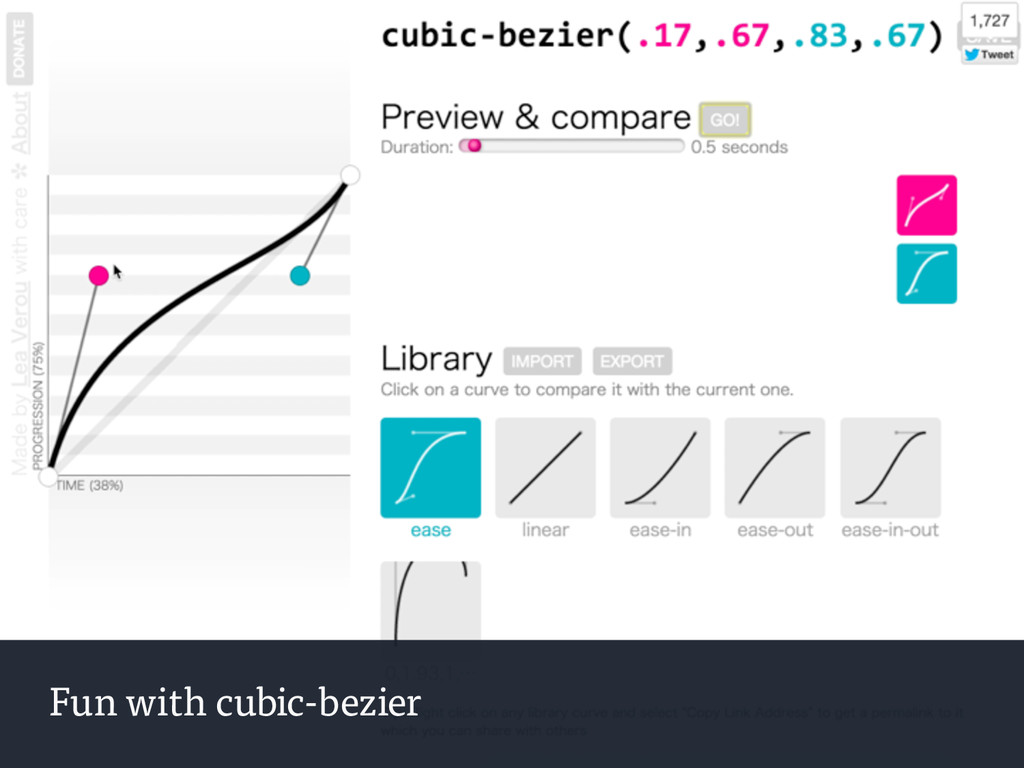Fun with cubic-bezier