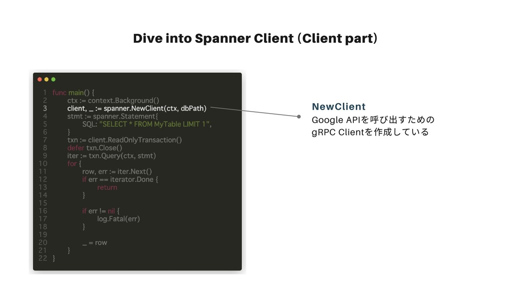 Dive into Spanner Client (Client part) Google A...