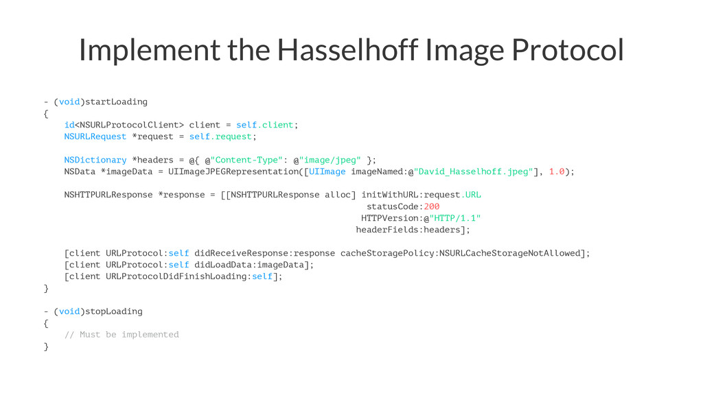 Implement the Hasselhoff Image Protocol - (void...