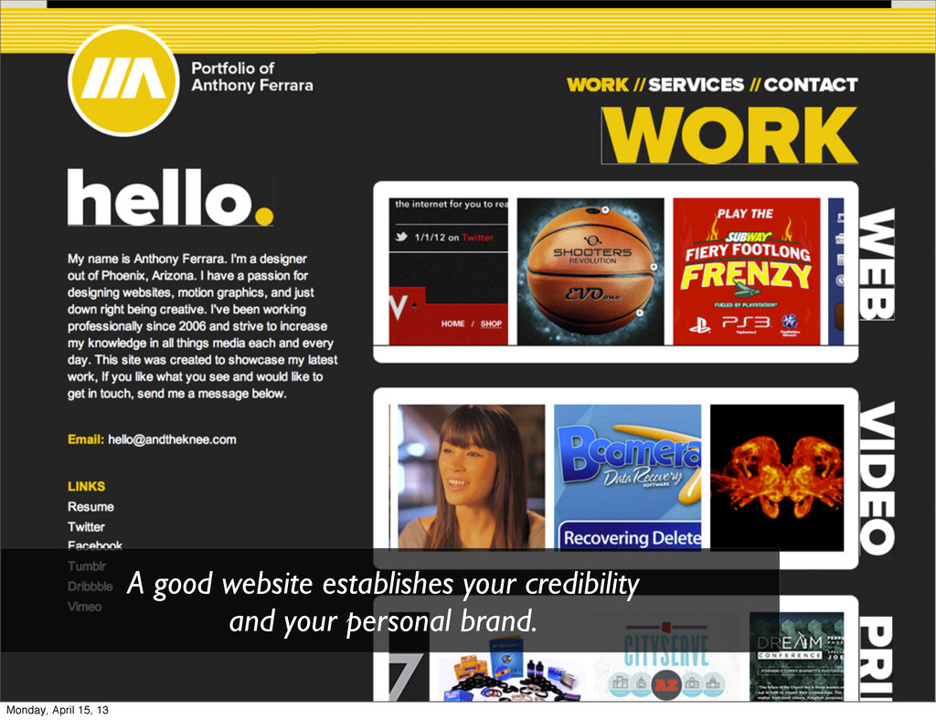 A good website establishes your credibility and...