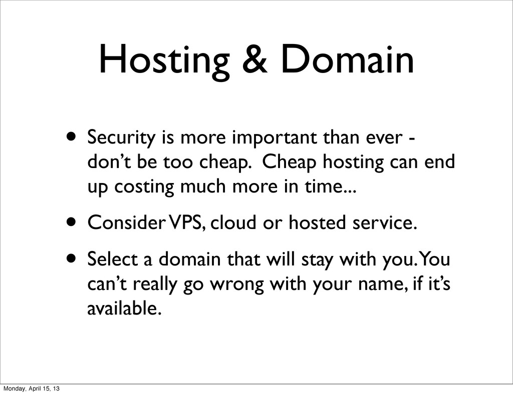 Hosting & Domain • Security is more important t...