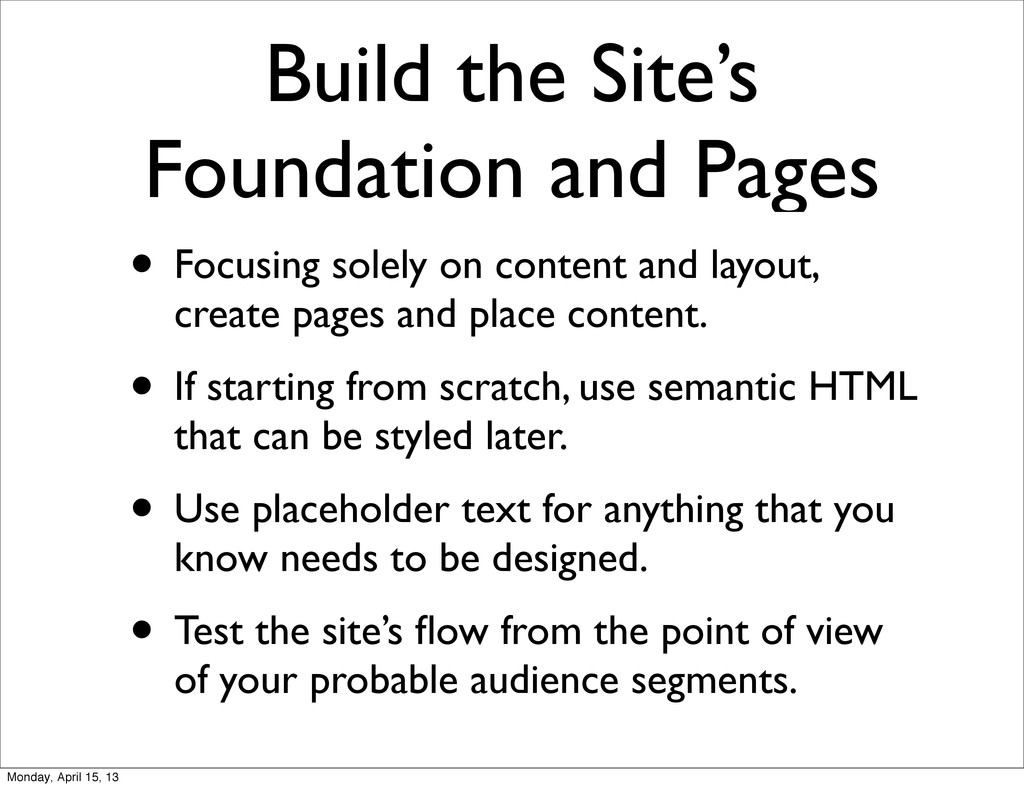 Build the Site's Foundation and Pages • Focusin...