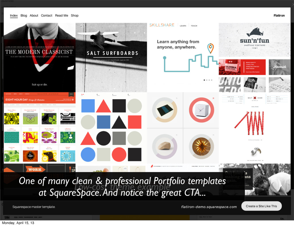Low-cost theme example One of many clean & prof...