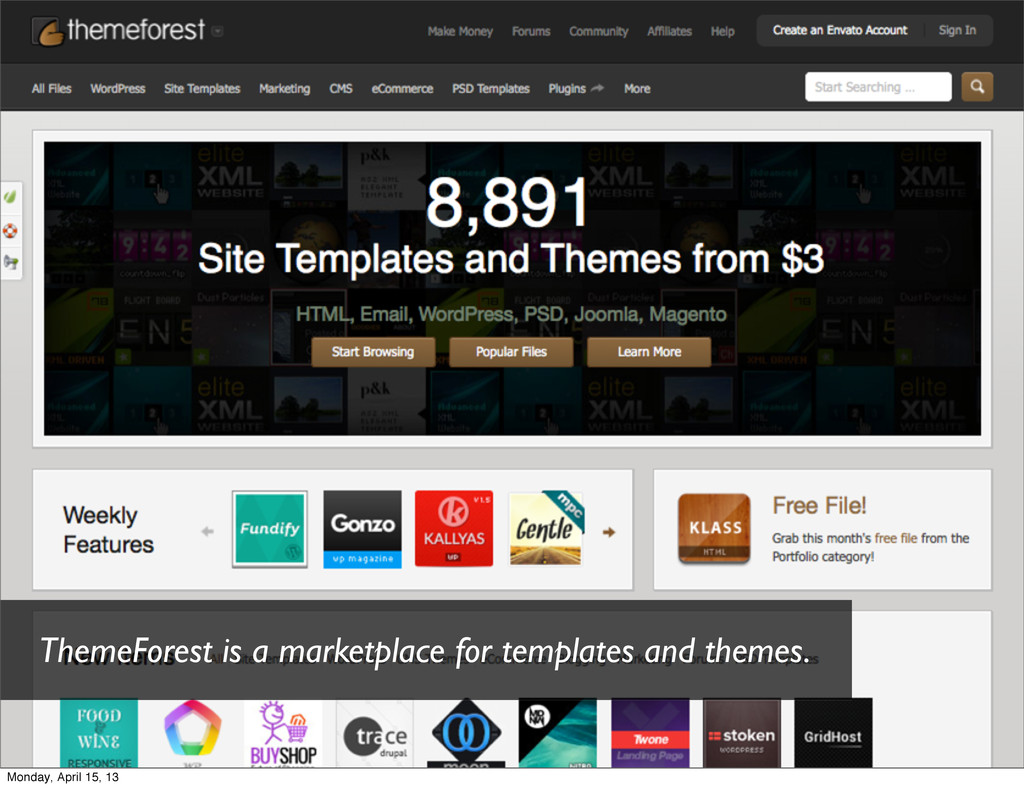 ThemeForest is a marketplace for templates and ...