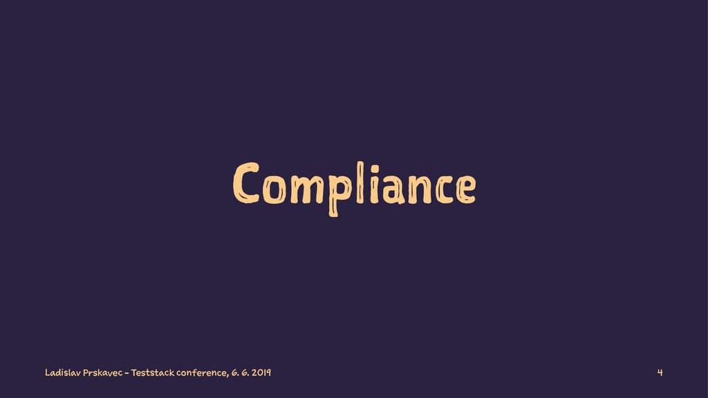 Compliance Ladislav Prskavec - Teststack confer...
