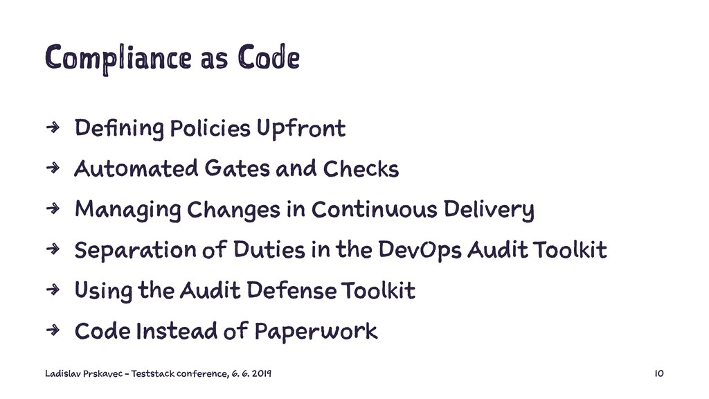 Compliance as Code 4 Defining Policies Upfront ...