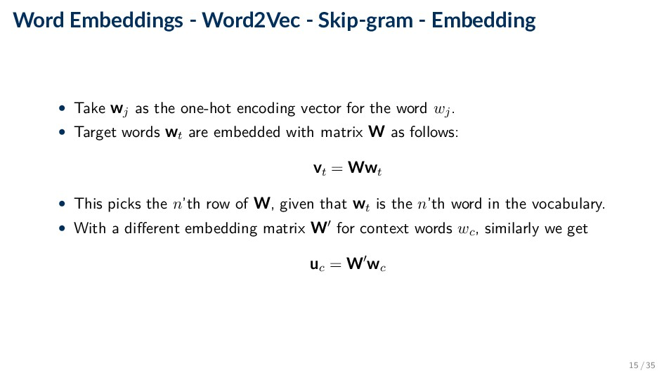 Word Embeddings - Word2Vec - Skip-gram - Embedd...