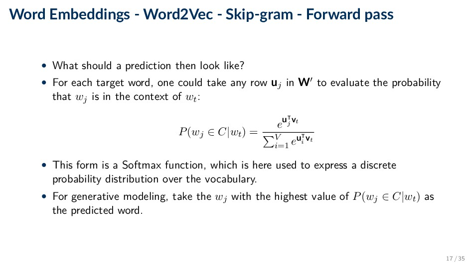 Word Embeddings - Word2Vec - Skip-gram - Forwar...