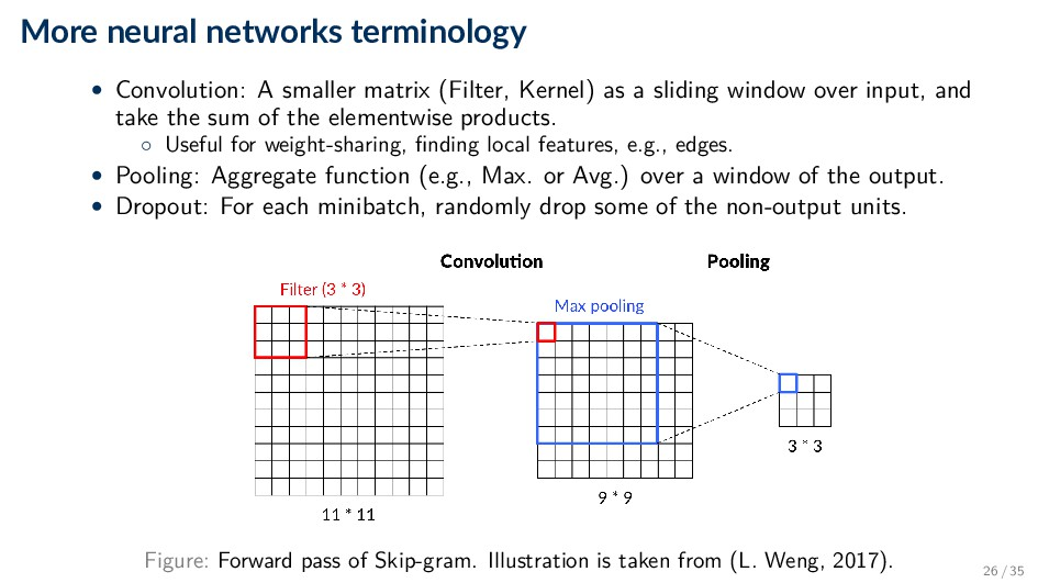 More neural networks terminology • Convolution:...