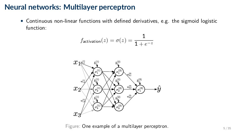 Neural networks: Mul layer perceptron • Continu...