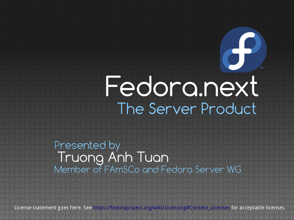 The Server Product Truong Anh Tuan Presented by...