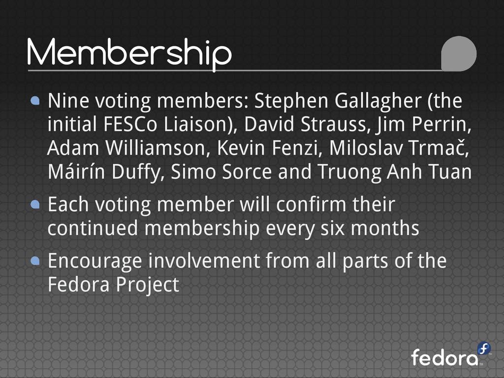 Membership Nine voting members: Stephen Gallagh...