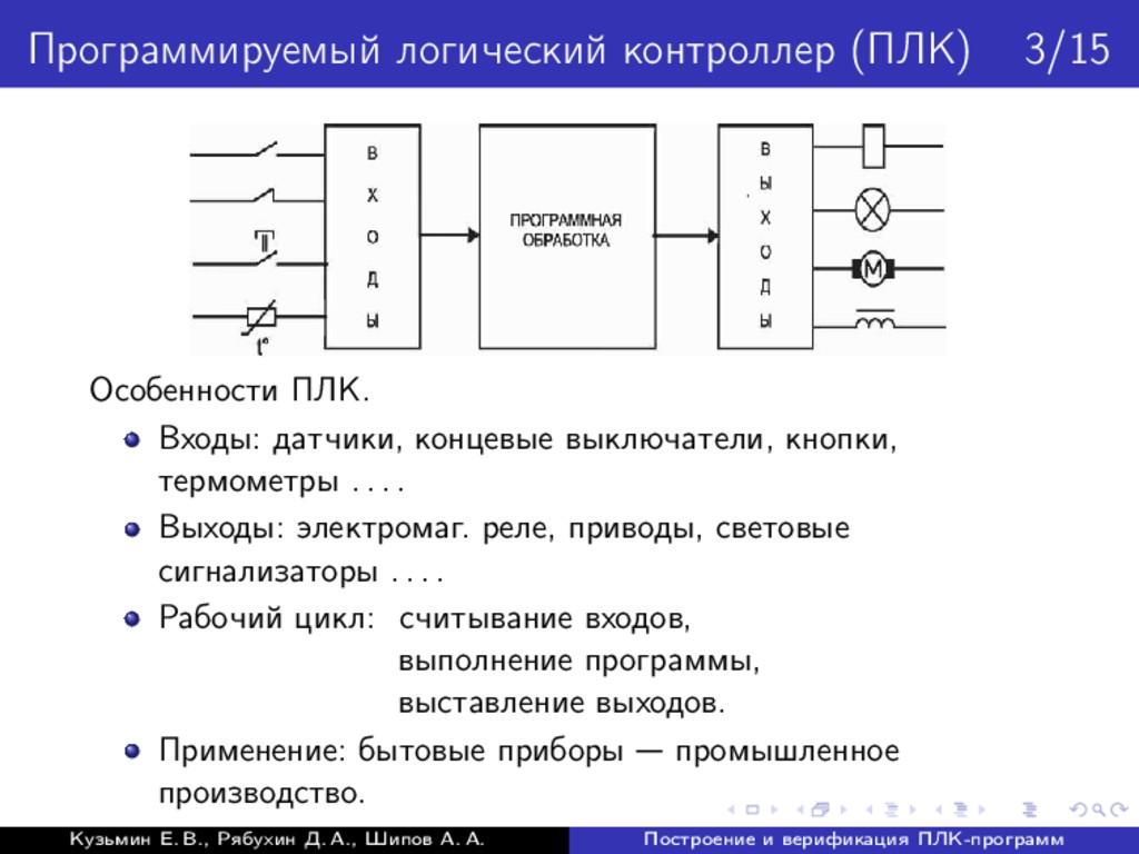 Программируемый логический контроллер (ПЛК) 3/1...