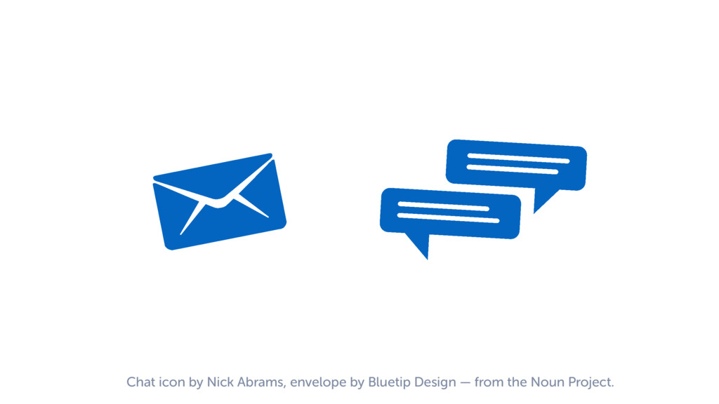 Chat icon by Nick Abrams, envelope by Bluetip D...