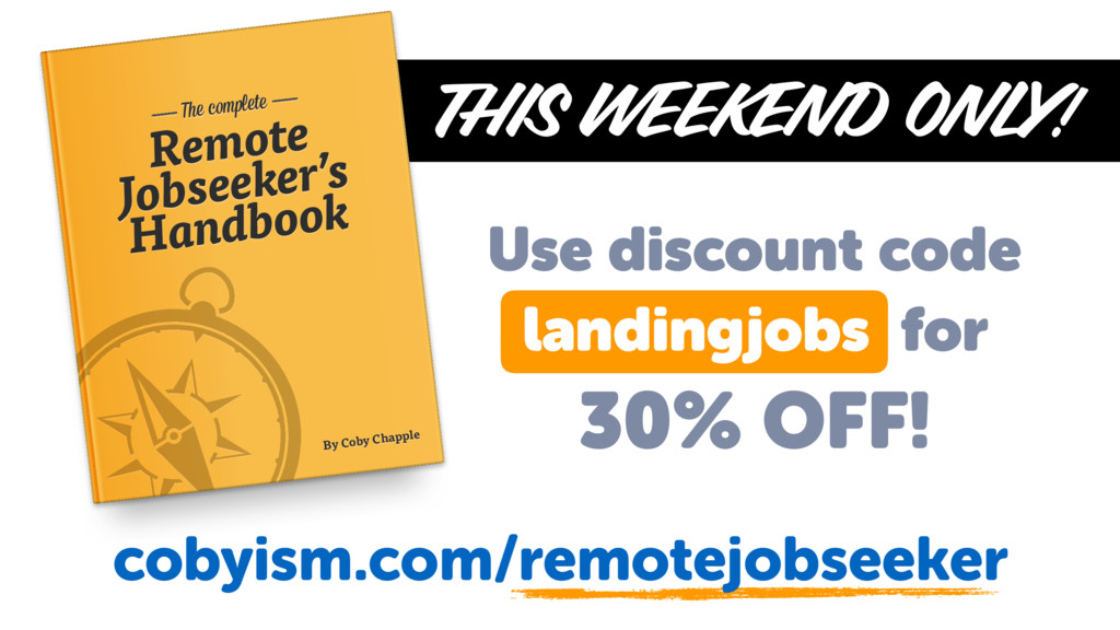 THIS WEEKEND ONLY! Remote Jobseeker's Handbook ...