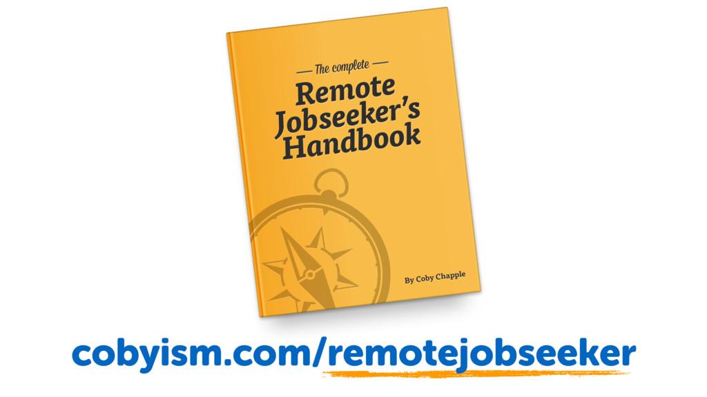 Remote obseeker's Handbook Remote Jobseeker's H...