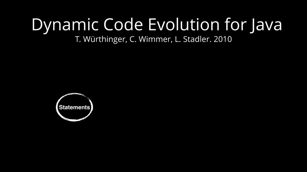 Dynamic Code Evolution for Java T. Würthinger, ...