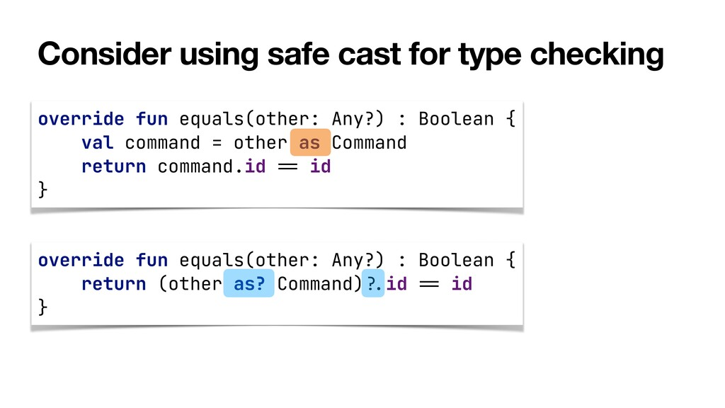 Consider using safe cast for type checking over...