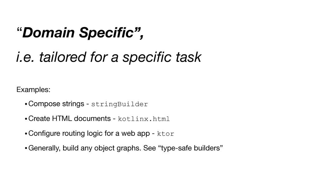 """""""Domain Speci fi c"""", i.e. tailored for a speci ..."""